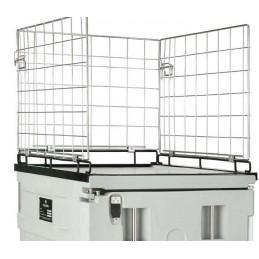 Conteneur isotherme cargo Line 370 litres sur roues avec suppléments grillage