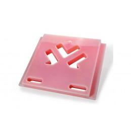 Plaque eutectique +3°C rouge 600 x 487 mm