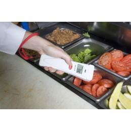 Thermomètre infrarouge Slim-Line : mesures des températures des aliments.