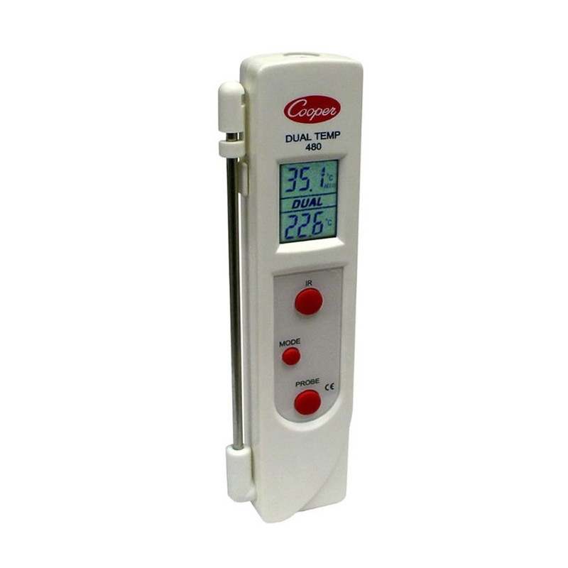 Thermomètre infrarouge avec sonde Dual-Temp