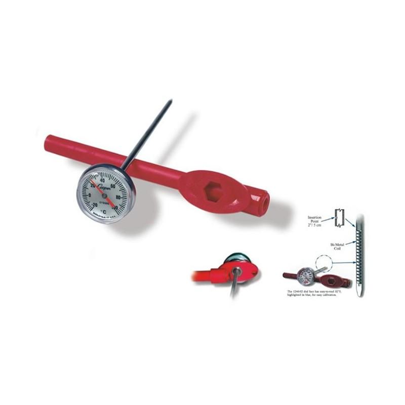Thermomètre alimentaire analogique à coeur -20 à + 100 degrés