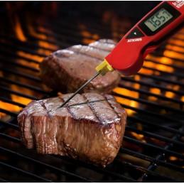 Thermomètre thermocouple pliable avec sonde remplaçable : utilisation dans le contrôle de température des steaks