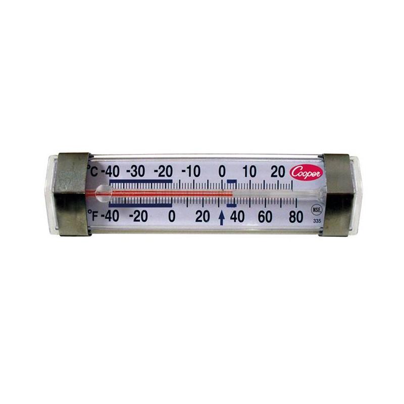 Thermomètre horizontal froid positif et négatif