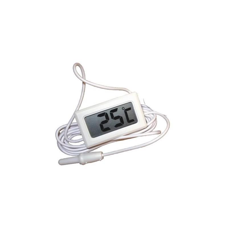 Thermomètre digital à encastrer blanc