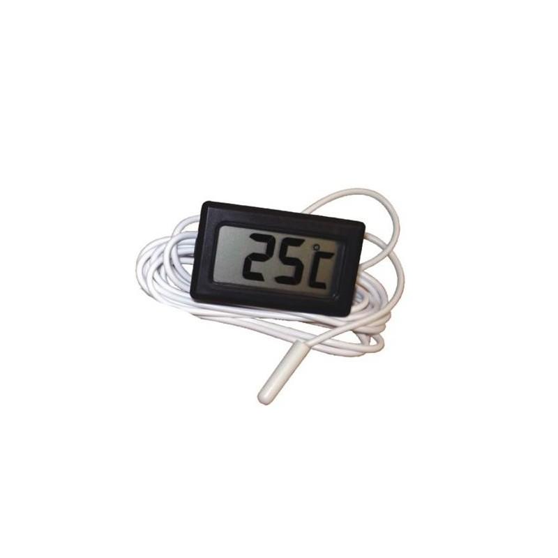 Thermomètre digital à encastrer noir
