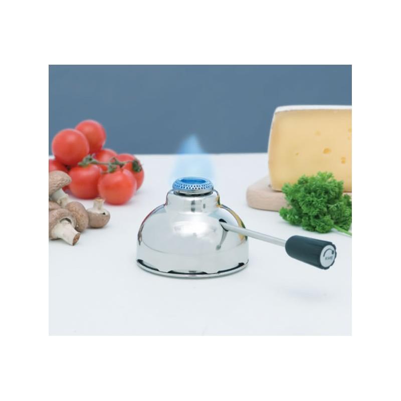Brûleur à gaz inox avec flamme réglable 84 mm