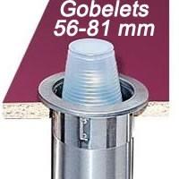 Distributeur pour gobelets 56 -81 mm à encastrer