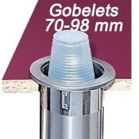 Distributeur pour gobelets 70 - 98 mm à encastrer