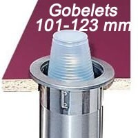 Distributeur pour gobelets 101 - 123 mm à encastrer