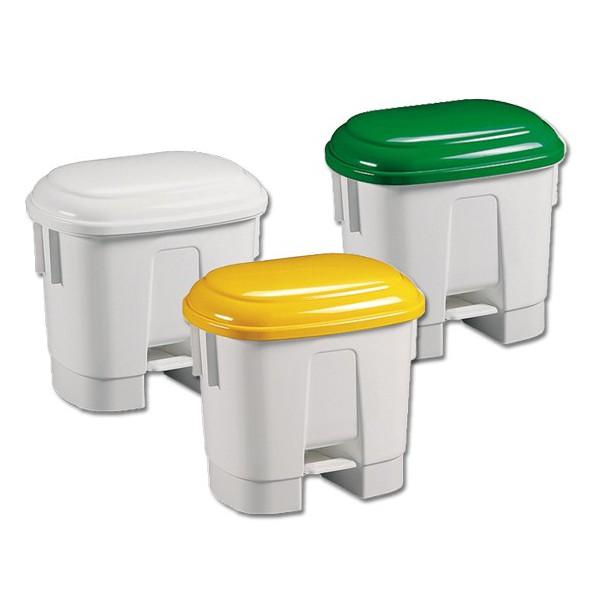 Poubelle à pédale 30 litres avec couvercle couleur