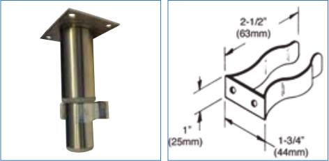 Clips pour plinthe en acier galvanisé
