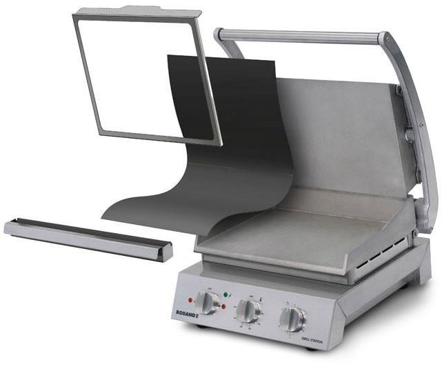 Cadre d'attache pour feuille de cuisson pour grill station