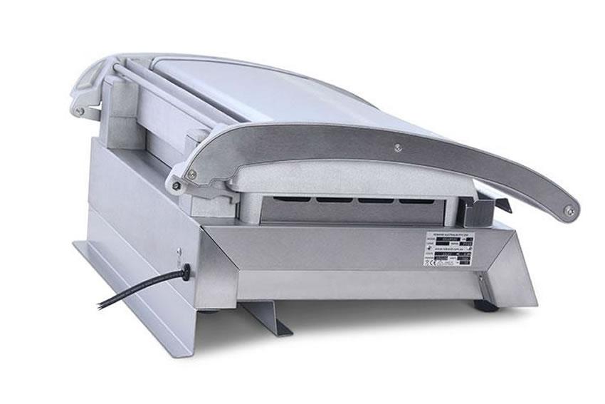 Support arrière pour grill station pour le drainage de la graisse