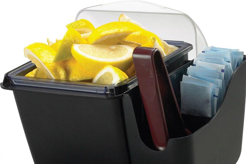 Bac de présentation d'aliments avec couvercle de 1.1 litre