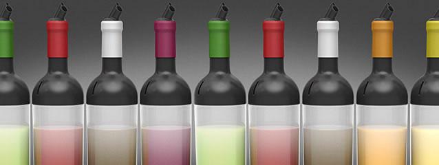 Lot de 6 goulots silicone pour bouteilles sauce FIFO