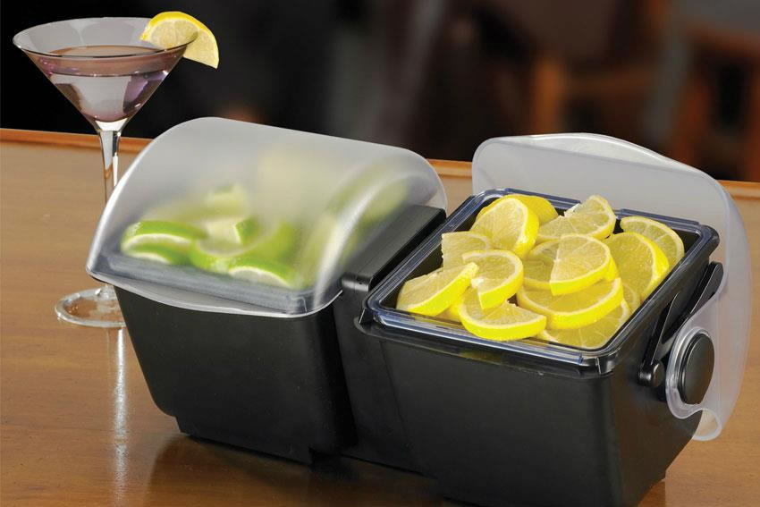 Bac de présentation d'aliments avec couvercle de 2 litres