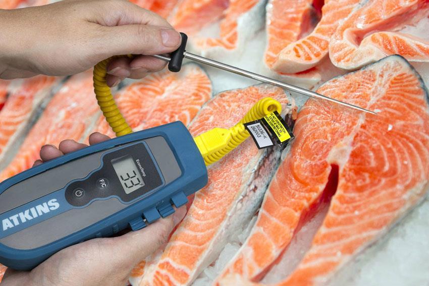 Sonde de température à coeur 153 mm pour thermocouple pour la vérification de la témpératures des poissons par exemple.